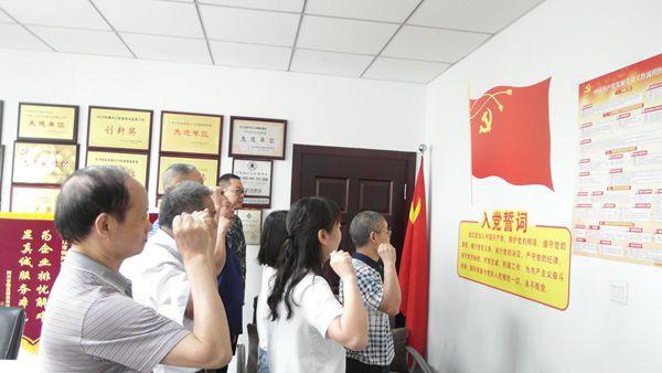 内江市特检所党支部开展重温入党誓词和6月集中学习活动
